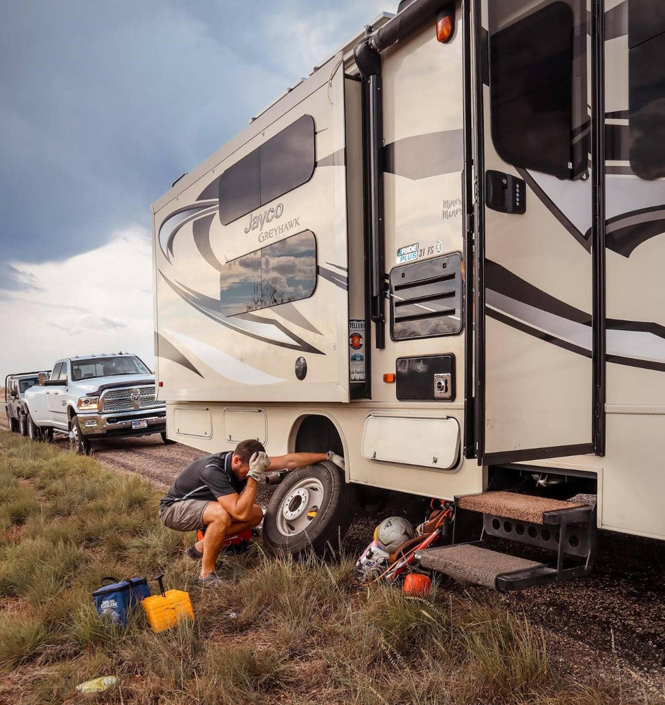 Changing RV tire The Marvelous Miners