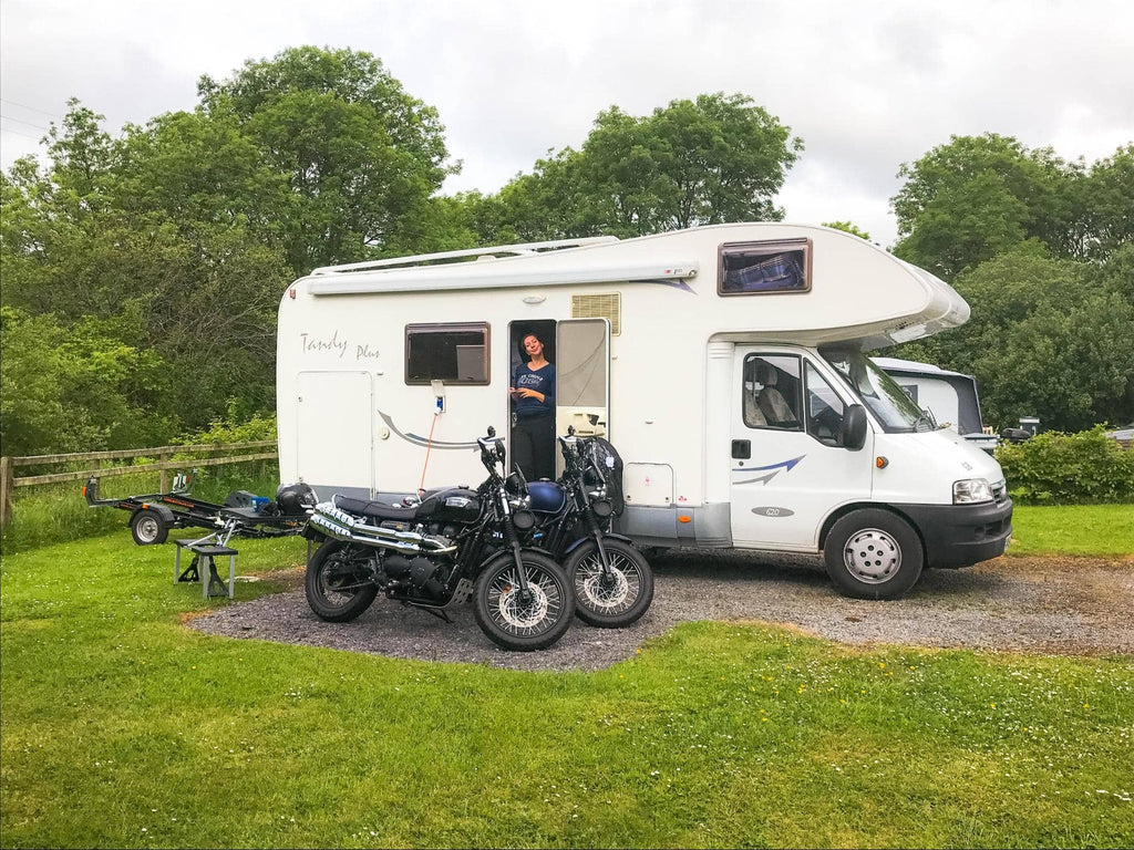 Kathryn Bird on their very first motorhome trip