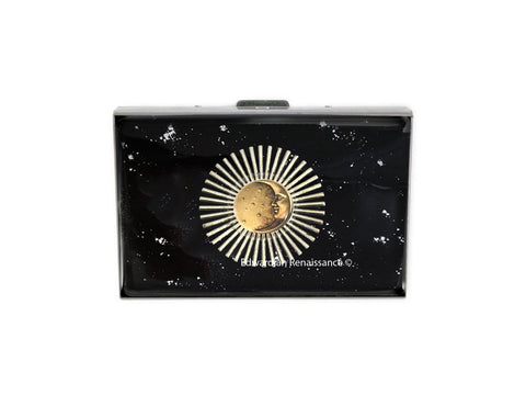 Celstial RFID Credit Card Wallet Inlaid in Hand Crafted Art Deco Inspired Custom Colors and Personalized Options Available