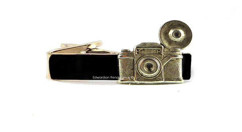 Antique Silver Vintage Camera Tie Clip Flash Photography Tie Bar Accent Art Deco Vintage Style Custom Colors Available