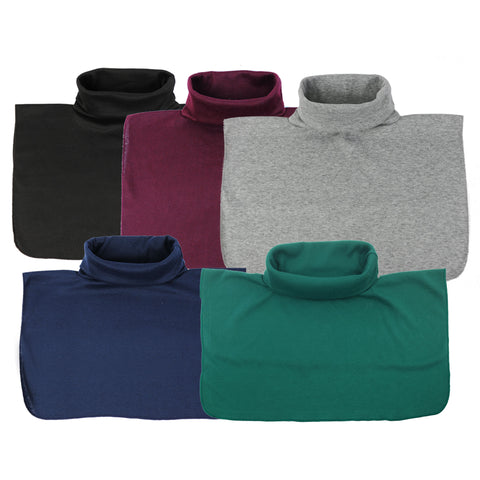5 Pack of Mock Turtlenecks Unisex Dickey Fake Collar Detachable Collar Faux