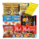 (Set of 16) Korean Hit Ramen Variety Pack w/ Instant Coffee Mix Pack Box