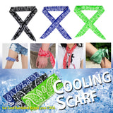Pack of 3, Ice Cool Cooling Scarves Instantly Cool Scarf Cooling Towel for Neck Head