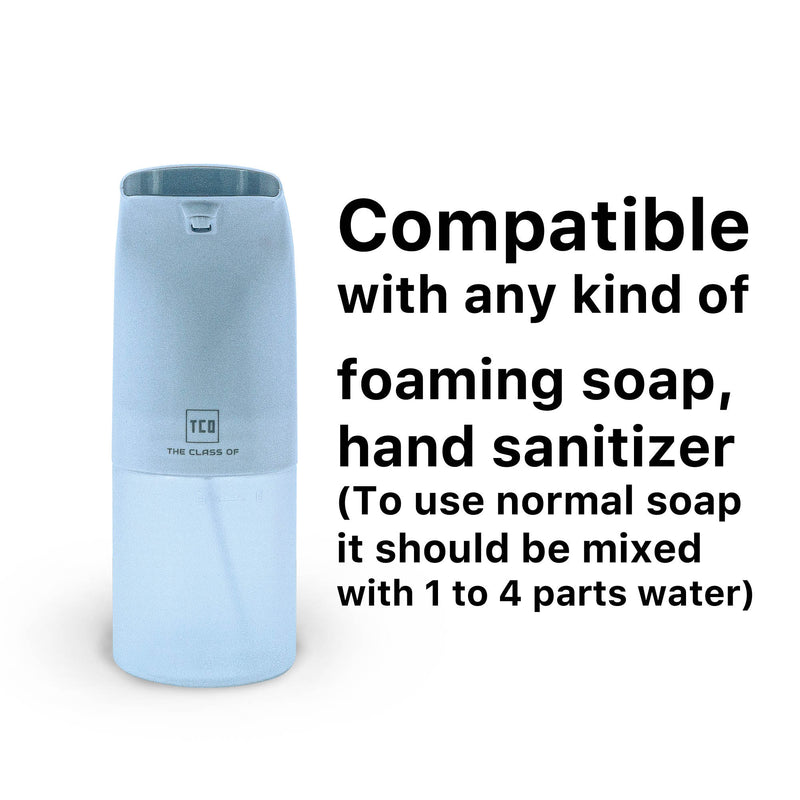 TCO Automatic Foam Soap Dispenser, Electric Battery Powered, Infrared Motion Sensor, IPX3 Water Resistance, Kitchen Sink, Bathroom, Compatible w/ Liquid Soap & Hand Sanitizer (350ml / 11.83 Fl Oz)