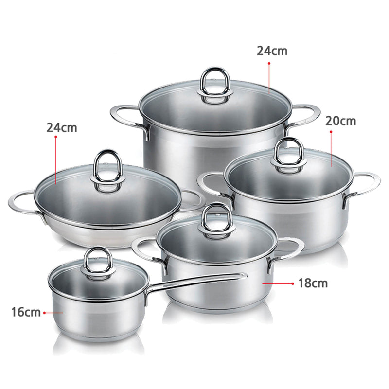 Valarie Korean Tri-Ply Aluminum Stainless Steel Induction Cookware 20 CM 3.6-Quart QT Saucepan With Lid
