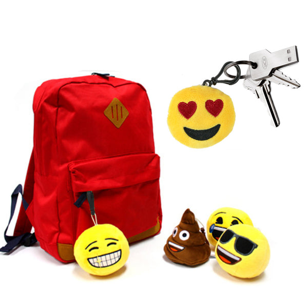 "The Elixir Party 2"" Mini Emoji Key chain Cushion Pillow Set Party Supplies, Claw machine Refill Prizes"