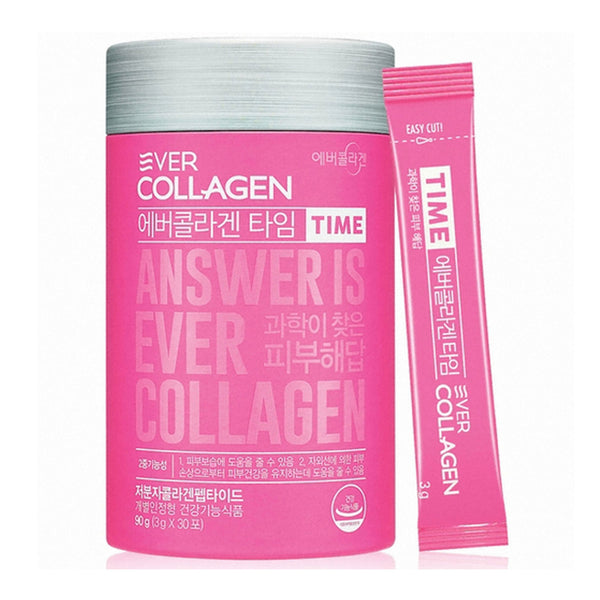 Ever Collagen Time Collagen Powder Low Molecular Collagen Peptides Powder Stick Supplement-30 Ct