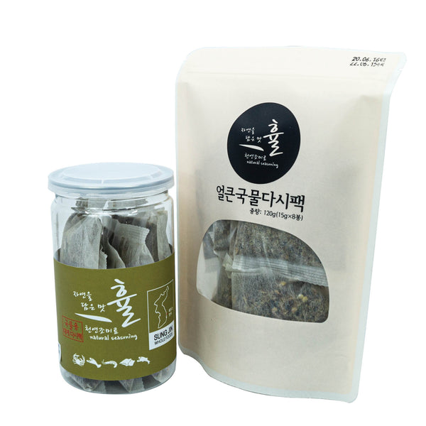 Charmeal Hyul Premium Korean Umami 100% Natural Snow Crab & Spicy Soup Stock Pack for Cooking Healthy Soups, Stocks, Stews, Bouillon, Noodles (NO MSG) Combo Gift Set