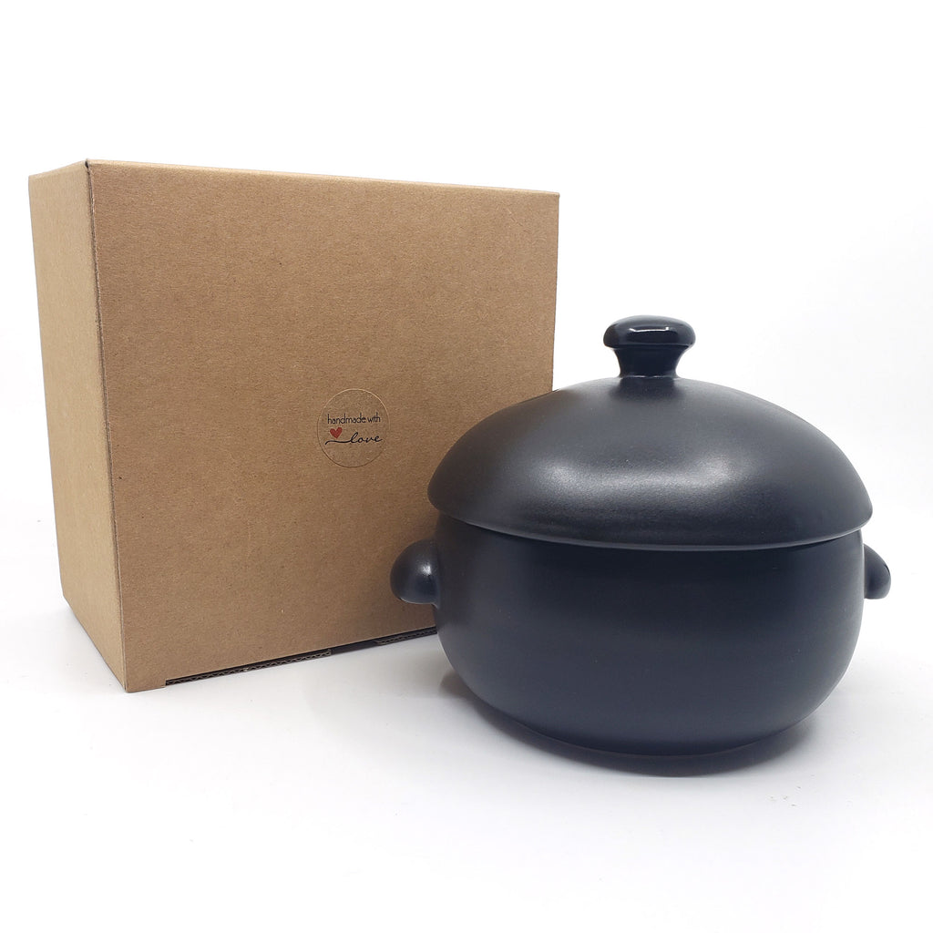 Korean Traditional Ceramic Rice Cooker with Lid, Earthenware Rice Cooker