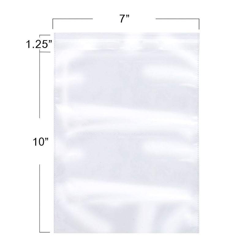 100 Pack, Crystal Clear Resealable Reclosable Cellophane Bags, Meets USDA FDA Standards