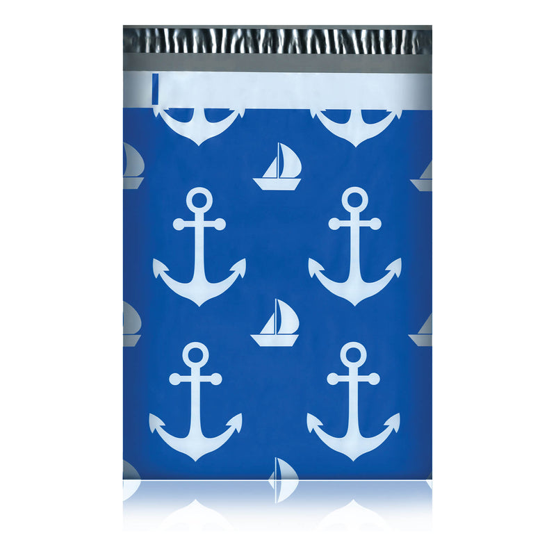 100/200/1000 CT 10 x 13 Nautical Premium Designer Printed Poly Mailer Shipping Envelopes Waterproof Self Seal Adhesive Package Mail Bag