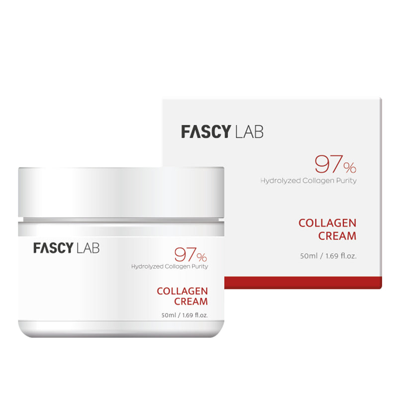 FASCY Lab Cream - Collagen, Cermaide, Cica AC Cream For Sensitive Skin, Hypoallergenic, Safe Ingredients, Made In Korea (50ml / 1.69 fl.oz)