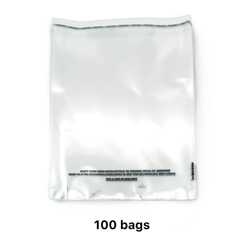 "100/200/1000 CT 9"" x 12"" Clear Self Seal OPP Cellophane Bag Sealing Cello Pouch - For Goodie Bags, Treats, Gifts, Party Favors, Bakery Goods - (1.5 Mil) Suffocation Warning Resealable Reclosable Bags"