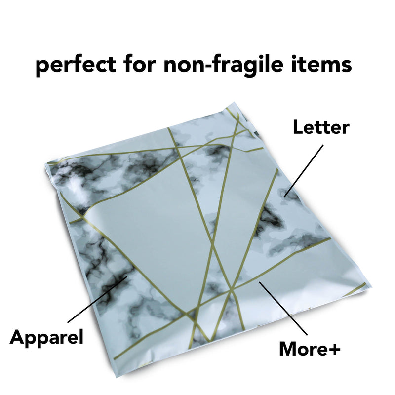 100/200/1000 CT 10 x 13 Geo Marble Premium Designer Printed Poly Mailer Shipping Envelopes Waterproof Self Seal Adhesive Package Mail Bag