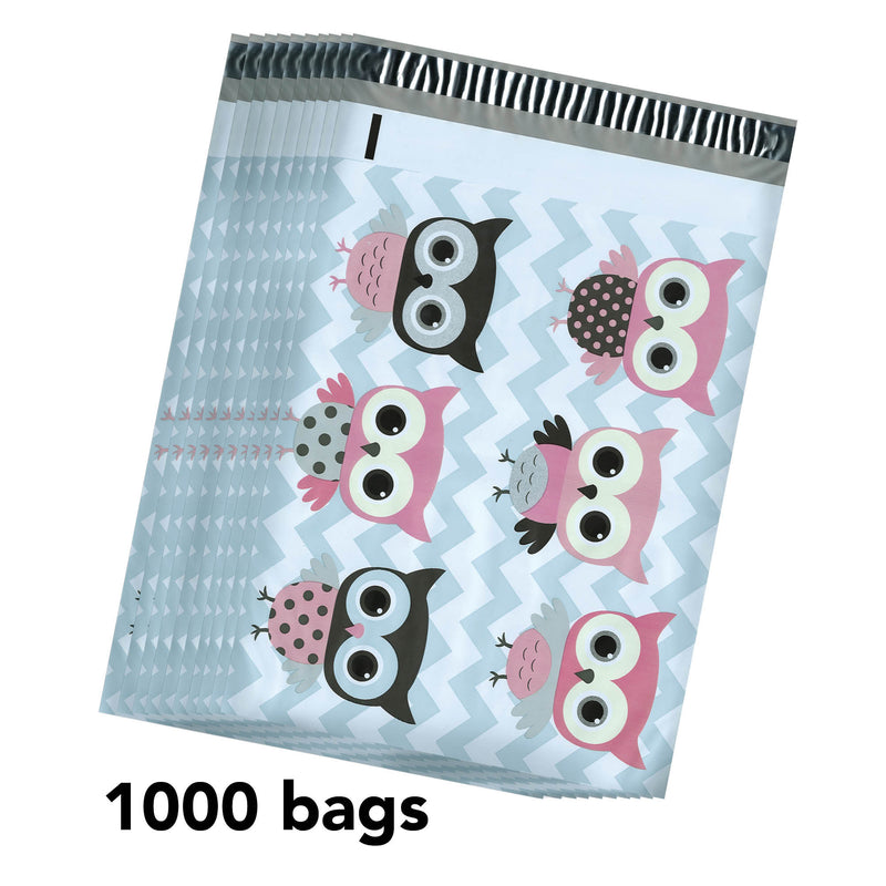 100/200/1000 CT 10 x 13 Owl Premium Designer Printed Poly Mailer Shipping Envelopes Waterproof Self Seal Adhesive Package Mail Bag