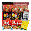 (Set of 14) Korean HOT & FIERY Ramen Variety Pack w/Tteokbokki Sauce, Instant Coffee Mix