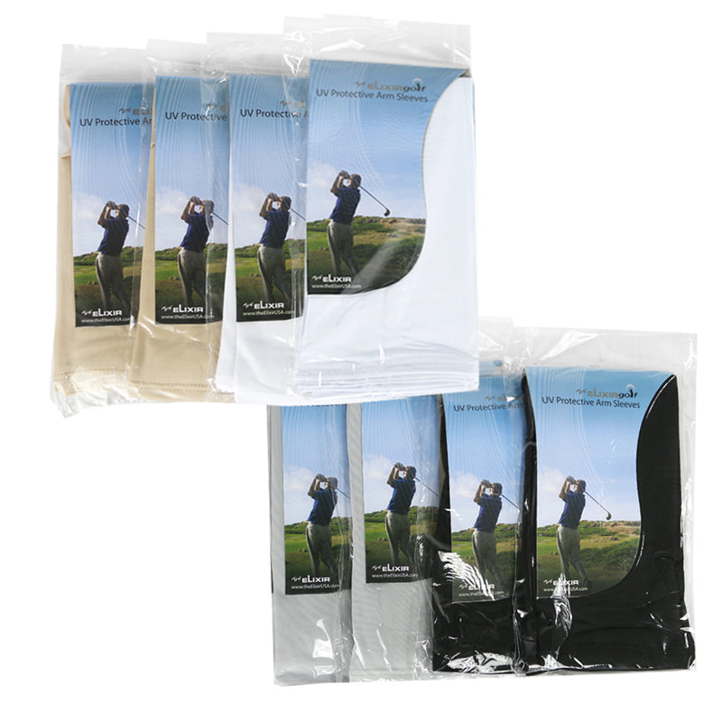8 Pairs, UV Protection Sun Block Arm Sleeves for Hiking Cycling Golf and Outdoor Activities