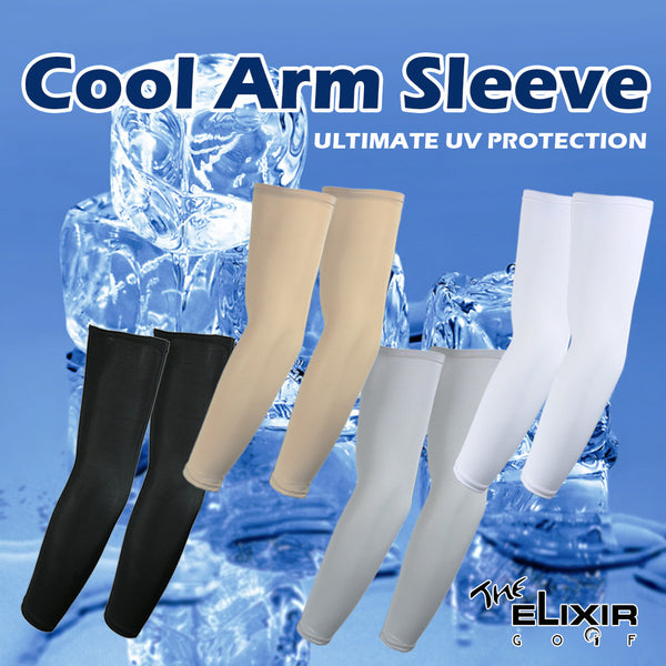 The Elixir Golf UV Protection Arm Sleeves for Cycling, Golf, Tennis, Hiking and Outdoor Activities