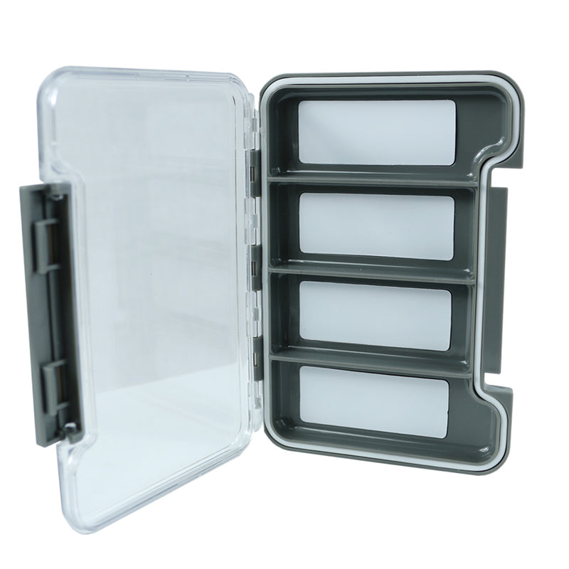 The Elixir Waterproof Fly Fishing Tackle Box Lure Spoon Hook Bait Storage Box Case with Clear Cover