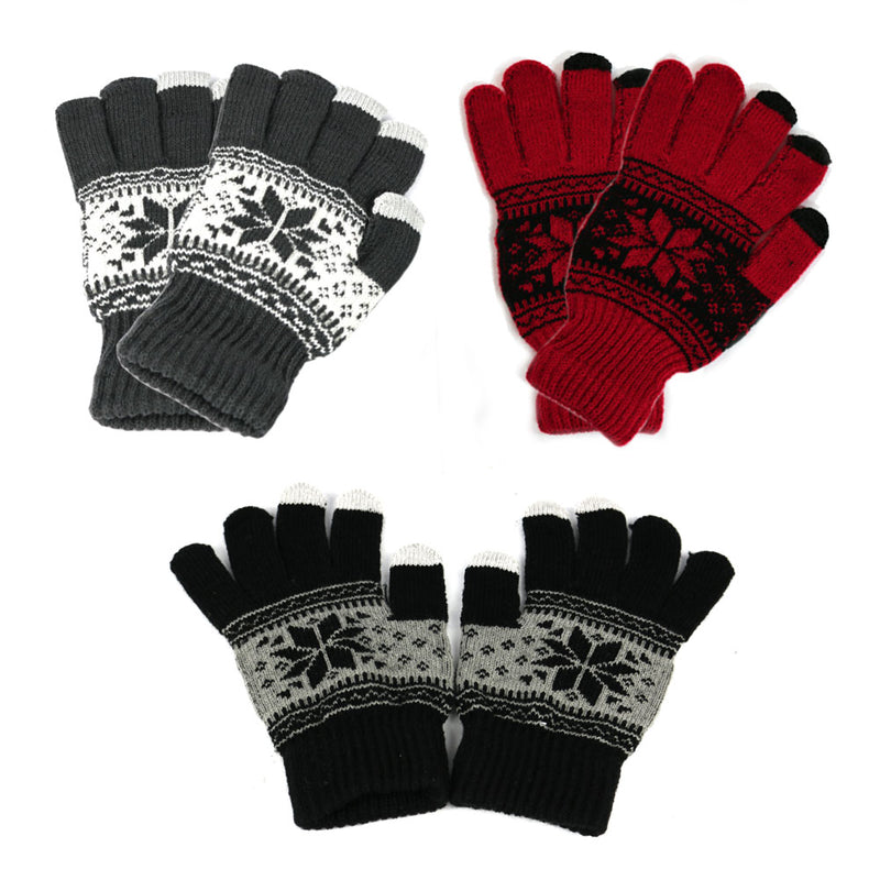 [That's a Steal!] 3/4 Pairs Winter Screen Touch Knit Gloves