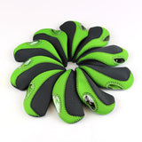 The Elixir Golf 10 pcs Golf Head Cover Club Iron Head Covers Protect Set