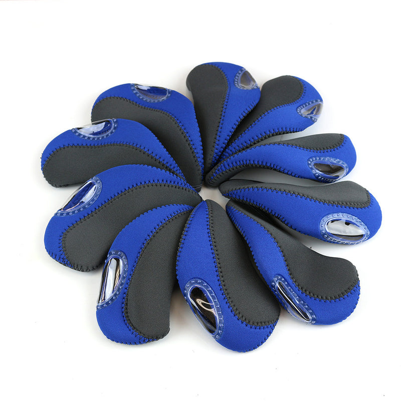 10 pcs Golf Head Cover Club Iron Head Covers Protect Set