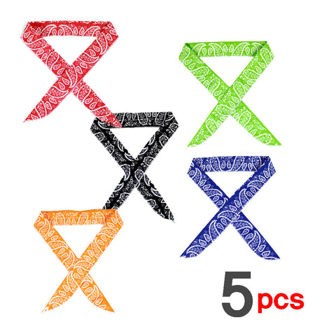 5 x Cooling Ice Bandana Scarf Headband Neck Cooler Cool Scarf