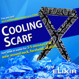 The Elixir Sports Bandana Neck Scarf Tie Wrap Cooling Bandanas Headband Cool Scarfs