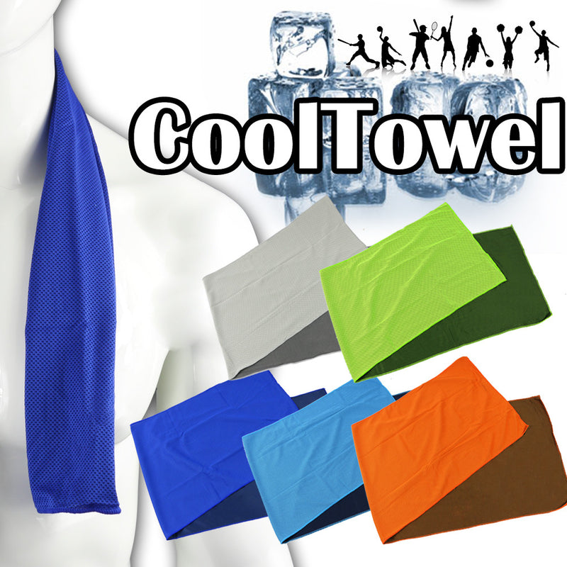 Cooling Cool Towel, Snap Cool Towel for Yoga, Gym Golf Hiking