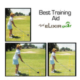 2 Sticks Golf Practice Training Aids Trainer Golf Alignment Training Sticks Equipment in Convenient Carrying Tube