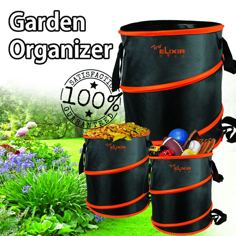 Pack of 2, The Elixir Deco Multipurpose 10 Gallon Garden Organizer Storage Foldable Bag