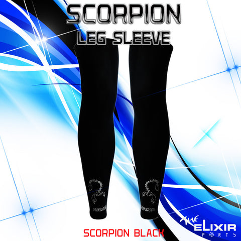 The Elixir Sports SCORPION Leg Compression Sleeve, Black
