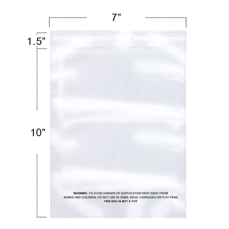 Packaging 100 Count Suffocation Warning Clear Reclosable Poly Bag, Meets USDA FDA Standards, Various Size