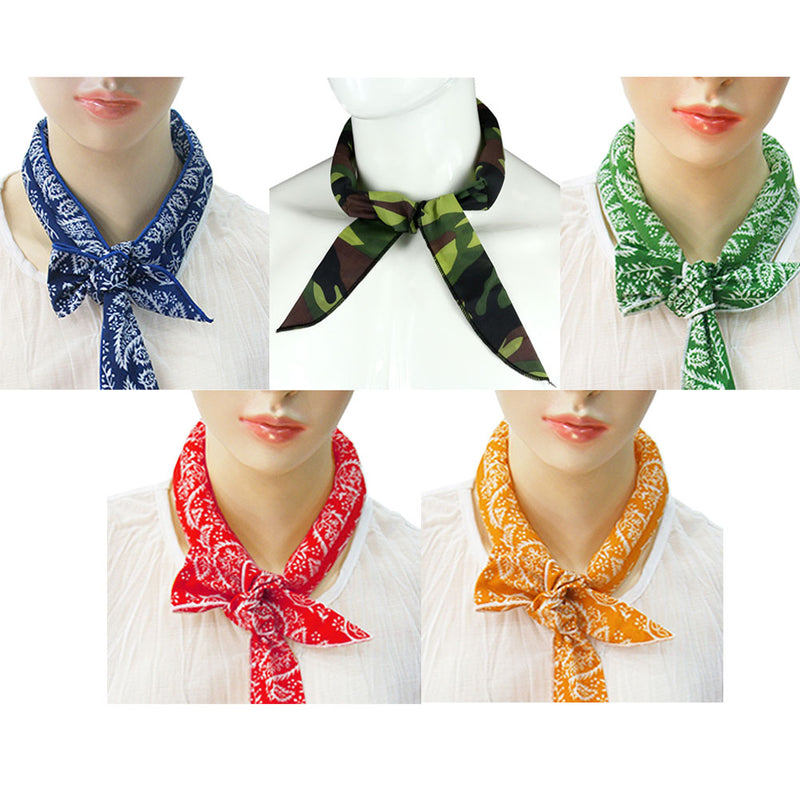 Ice Cool Scarf Neck Wrap Headband Bandanna Cooling Scarf, 5 Pcs Value Pack