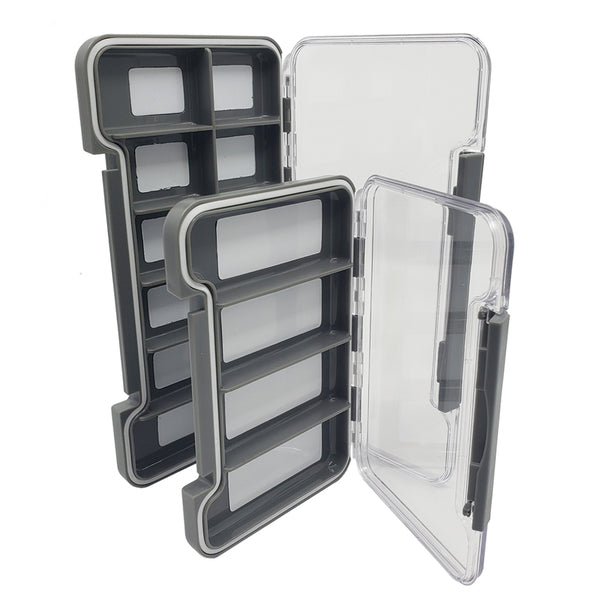2Pcs/set, Fishing Gear Case Fly Fishing Box Clear Hook Lure Large Capacity Compartment