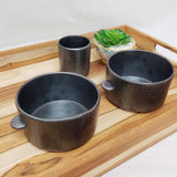 "KACHI Handmade Ceramic 5"" x 2.8"" Medium Serving Bowls, Set of 2, Korean Pottery"