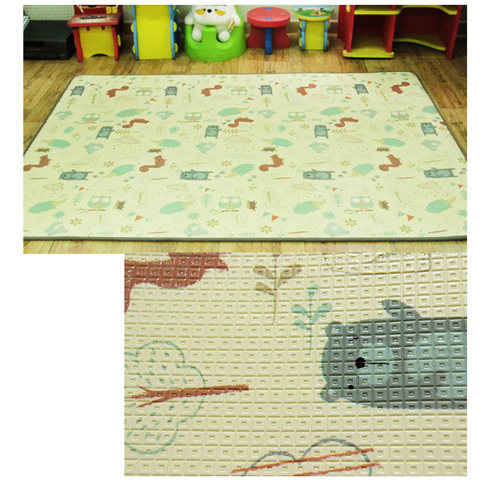 Baby Play Mat, 90 x 55 Inches Waterproof Anti-Slippery Non-Toxic Floor Mat, Double Sided Reversible
