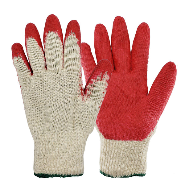 String Knit Palm, Latex Dipped Nitrile Coated Work Gloves Safety Working Gloves