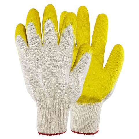 Yellow Latex Dipped Nitrile Coated Work Gloves Safety Working Gloves, Made in Korea
