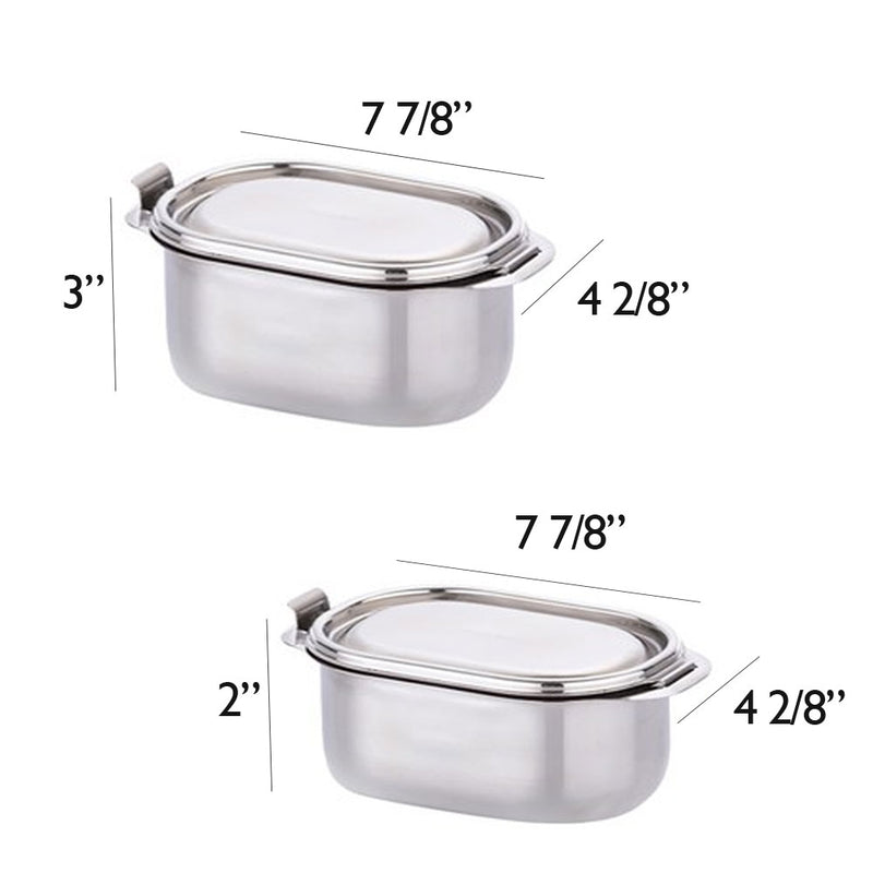 Kids Bento Lunch Box Food Container Storage Set, Leak Proof Stainless Steel for Kids