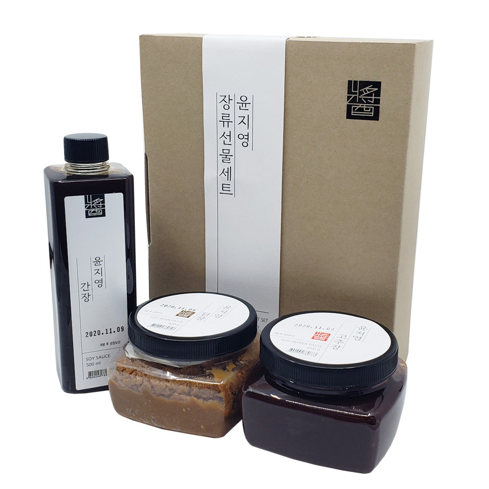 Traditional Fermented Soybean Paste, Red Pepper Chilli Paste, Soy Sauce Set, Non-GMO, Gluten-Free