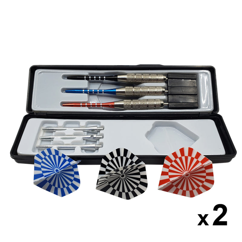 Professional Steel Tip Dart Set with Aluminum Shaft with Hard Case (Extra Shaft Included)