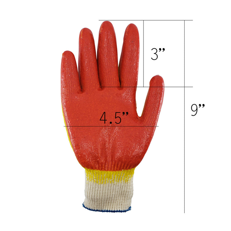Hand Forged Korean Ho-mi Gardening Tool with 4 Pairs of Full Finger Latex Coated Gardening Gloves