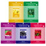 Pack of 20, The Elixir Beauty Concentrated Collagen Essence Full Face Mask Sheets + 3-Step Blackhead Remvoing Nose Strip