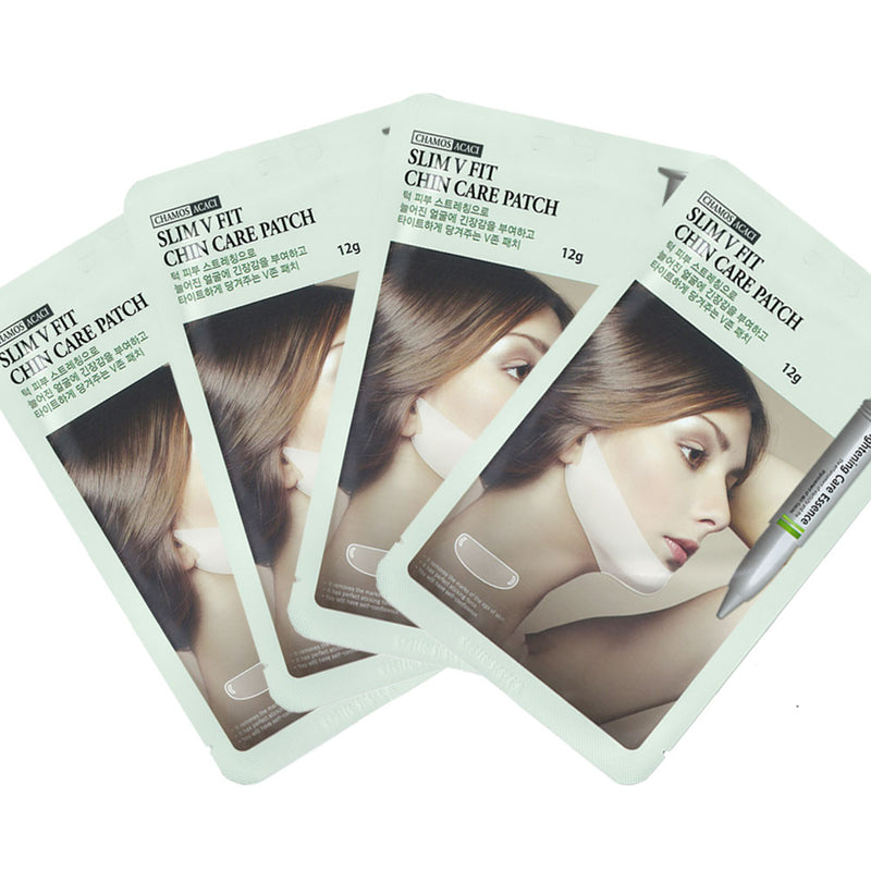 Pack of 24, The Elixir Korean Beauty Collagen Essence Mask Pack Sheet for Vitality & Moisturizing with Blackhead Removing Nose Strips and V-Line Chin Lift Mask Sheet