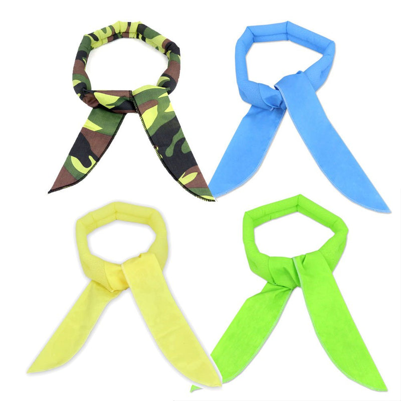 4 Pack, The Elixir Ice Cool Scarf Keep Cool Neck Wrap Bandanna Water Cooled Neck Collars