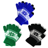[That's a Steal!] 3 Pairs, Winter Knit Gloves Touchscreen Warm Thermal Soft Elastic Texting