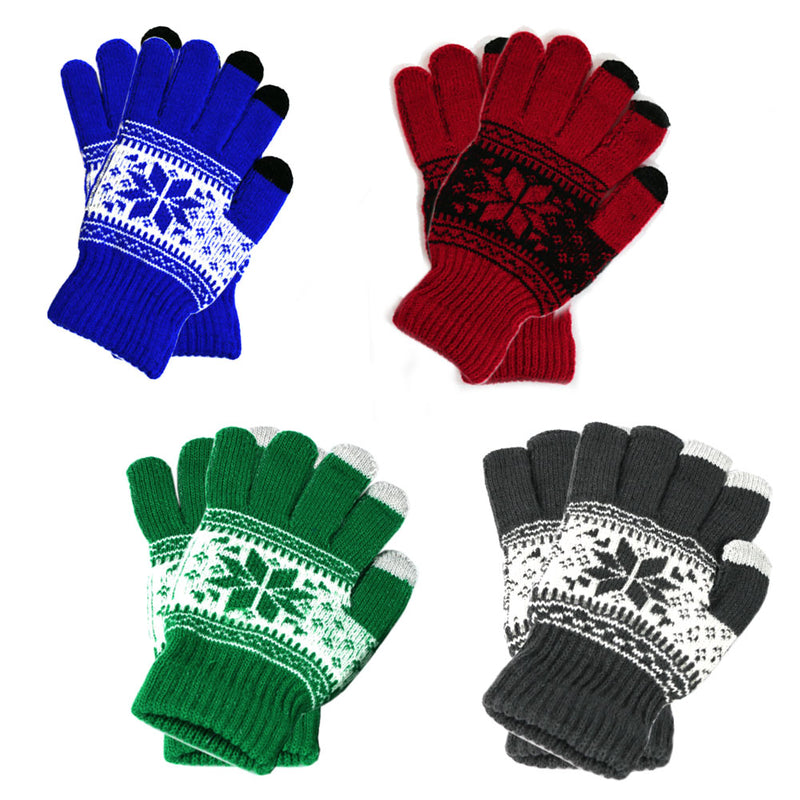 [That's a Steal!] 4 Pairs, Women Screen Touch Gloves Winter Thick Warm Soft Fleece Smart Texting Gloves