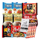 K-Foods Korean Hit Noodle Ramen Variety Pack w/ Tteokbokki Sauce, Instant Coffee Mix Box