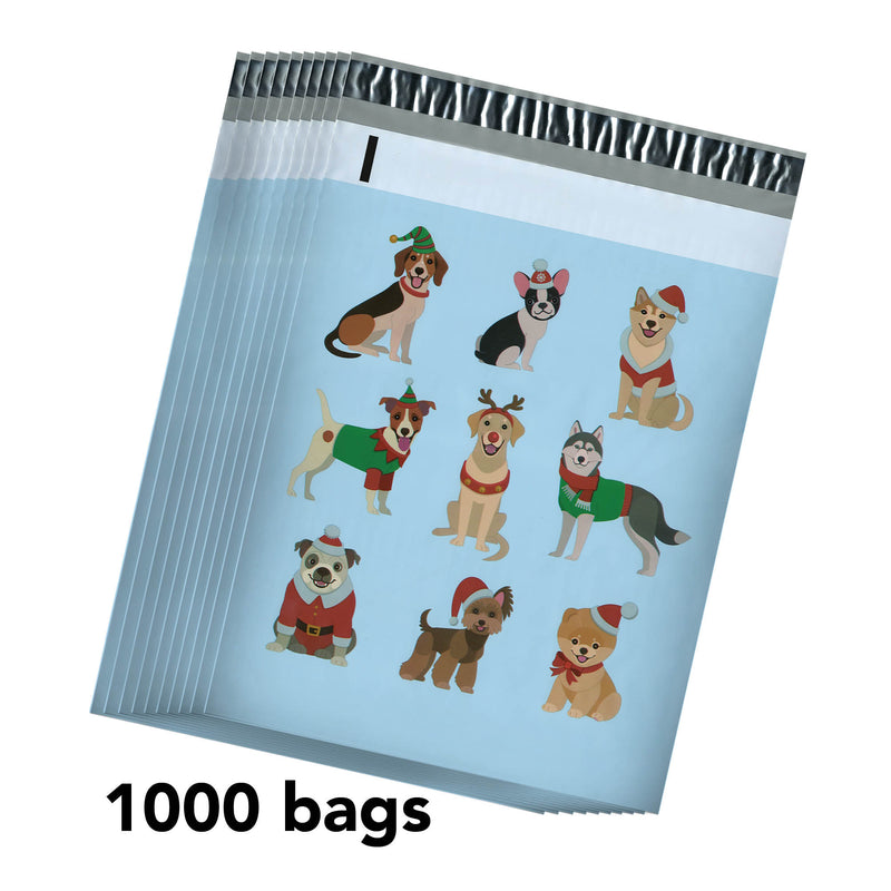 100/200/1000 CT 10 x 13 Dog Premium Designer Printed Poly Mailer Shipping Envelopes Waterproof Self Seal Adhesive Package Mail Bag
